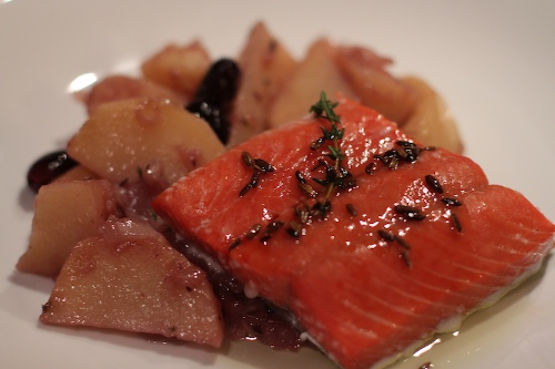 salmon with fennel oil