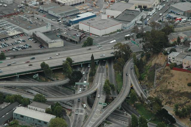 US 101 at Cesar Chavez and Potrero, San Francisco
