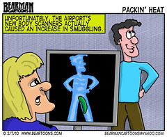 2 7 10 Bearman Cartoon Airport Body Scanner