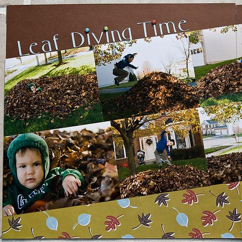 leaf diving left