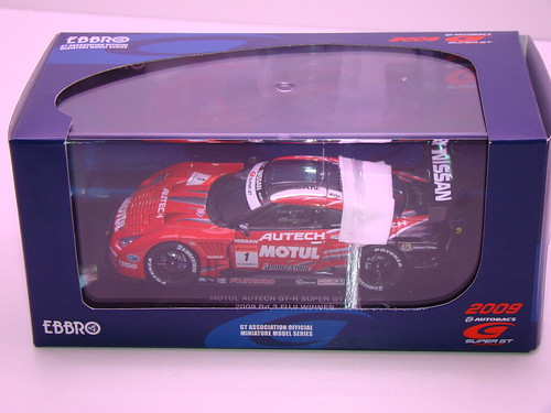 EBBRO MOTUL AUTECH GT-R SUPER GT 5002009 RD. 3 FUJI WINNER