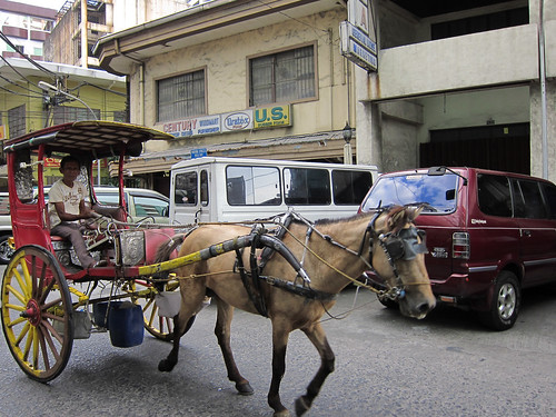 Calesa in the streets of Binondo