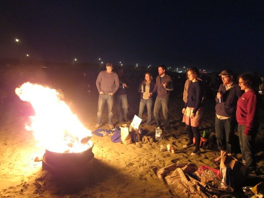 Bonfire at Ocean Beach