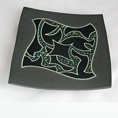 CK (?). Four-sided platter