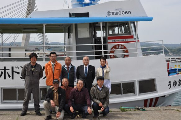 I made a cruise from the Himi port to Kuwagawa Port
