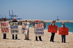 Demonstration in support of the 'Free Gaza' fl...