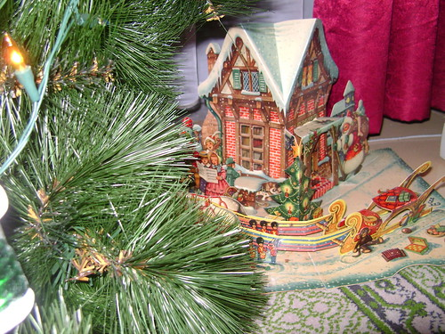 Christmas paper house