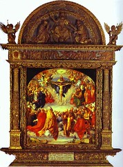 Albrecht Durer. The Adoration of the Holy Trin...