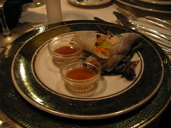 Chilled Shiitake Mushroom and Vegetable Spring Roll