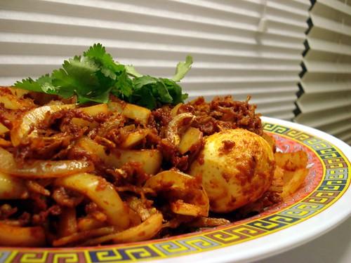 Sambal Ikan Bilis dan Telur (Spicy Anchovy and Egg)