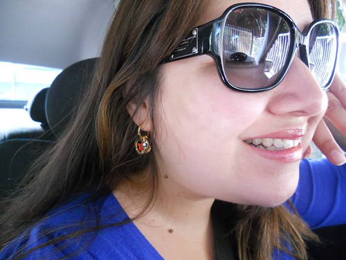 Love my new earrings.