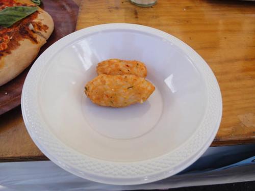 Norton Street Italian Festa: Briscioli (risotto balls) from Fernando's Pasta