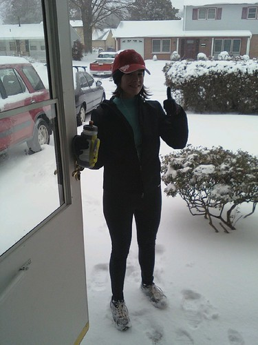 Me after my hard core run in the snow.