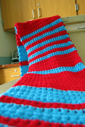 random stripe scarf is ready for its closeup