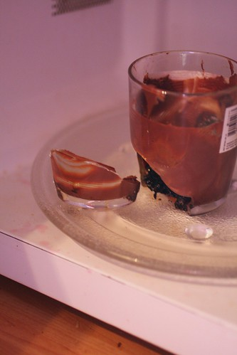 exploded nutella in the microwave