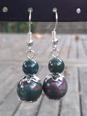 Indian bloodstone earrings
