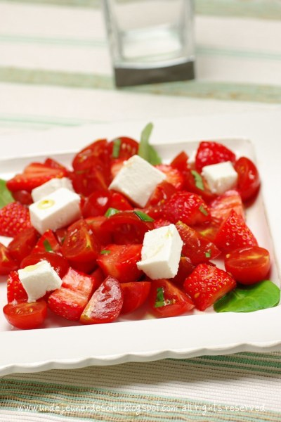 Strawberries and tomatoes salad