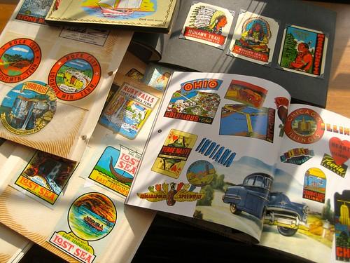 My Vintage Travel Decals