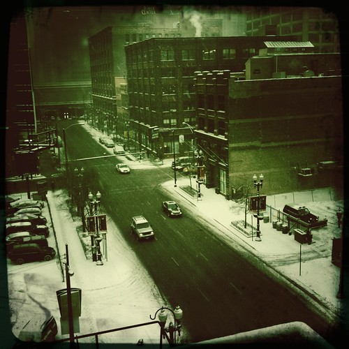 West Loop snow traffic