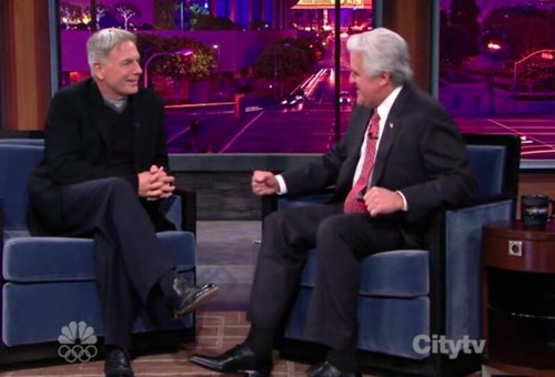 Mark Harmon and Jay Leno