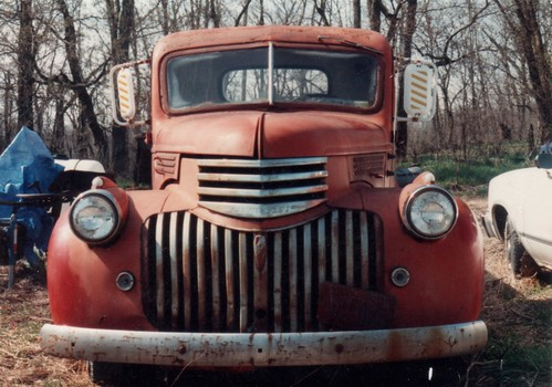 Photo of 1947 Chevy pickup.