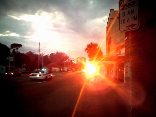 Random Orlando Sunset (and police)