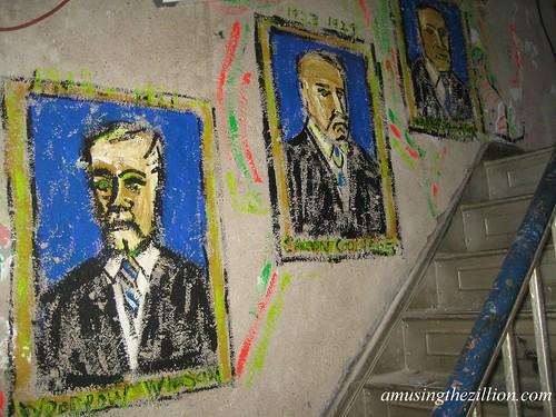Marie Roberts murals at CIUSA