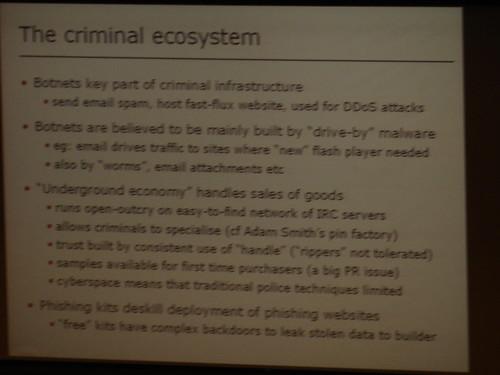 Criminal ecosystem