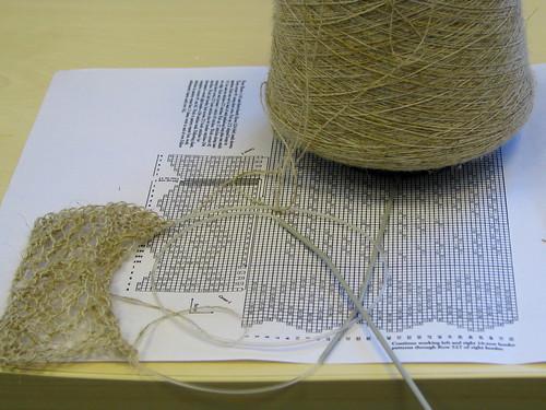 Swatch for Orenburg shawl