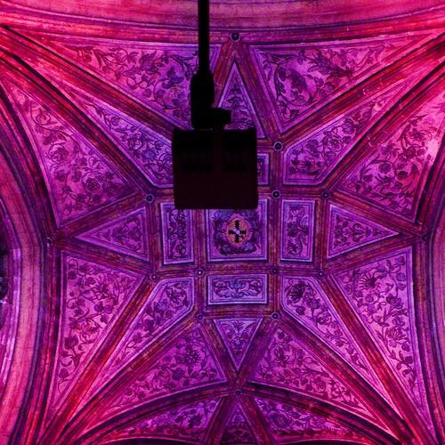 illuminations du plafond de Saint-Jacques (Liege) - photo : Gilderic