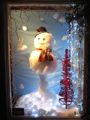 carmel window snowman