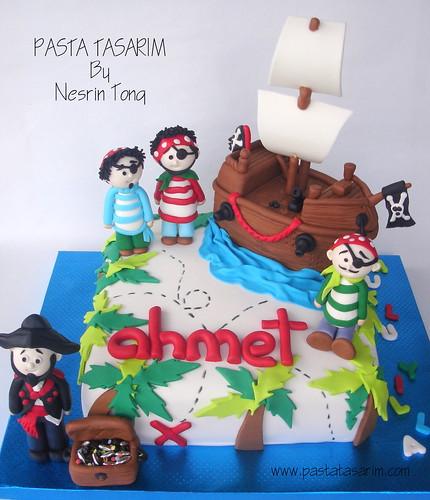 PIRATES CAKE- AHMET'S BIRTHDAY