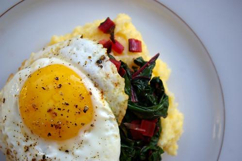 Polenta and chard with egg II