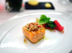 4th Course: Olive Oil Poached Organic Salmon