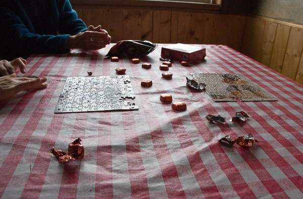 puzzles and chocolate