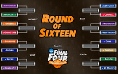 2010 NCAA Sweet Sixteen Bracket