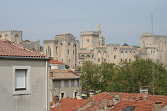 Avignon seen from Les Halles parking deck
