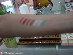 swatches of elianto shimmer stick
