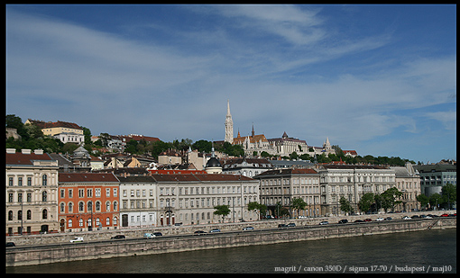 Budapest - view from Chain bridge on Buda