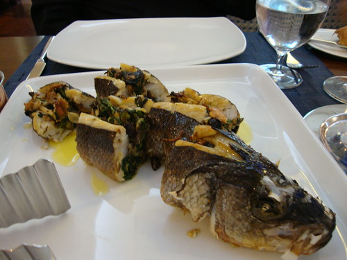 Roast Stuffed Branzino