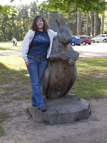 Stephanie and giant squirrel
