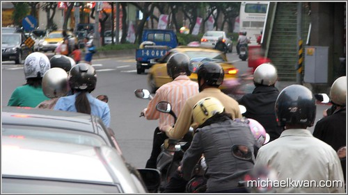 Scooters in Taiwan