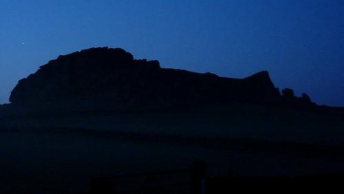 Almscliff Crag in Silhouette