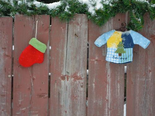 decorated suburban fence