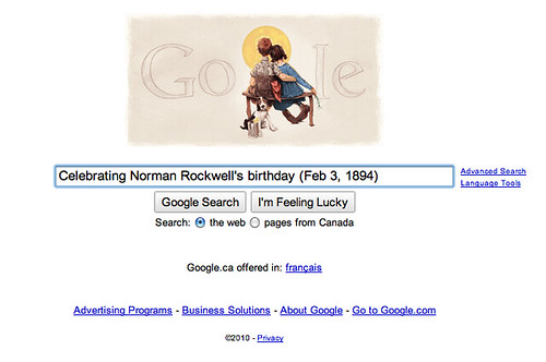 Celebrating Norman Rockwell's birthday (Feb 3, 1894)