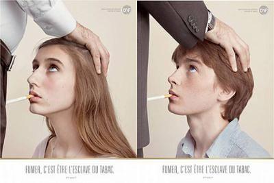 Polémica por una campaña francesa que equipara el tabaco con una humillación sexual
