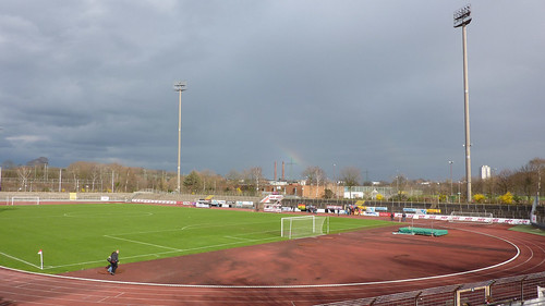 Sonne über dem Südstadion