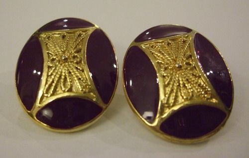 Vintage Earrings Royal Purple