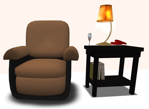 FluiD Furniture Diva Cuddle Chair and Endtable