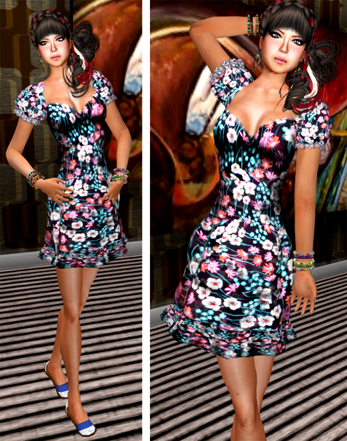 NEW! SHIKI-Floral Dress FLORAL MONSOON